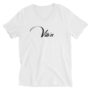 Vibn V neck T Shirt White